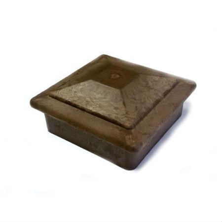 Фото - Колпак на столб Goodeck 120 х 120 мм Шоколад