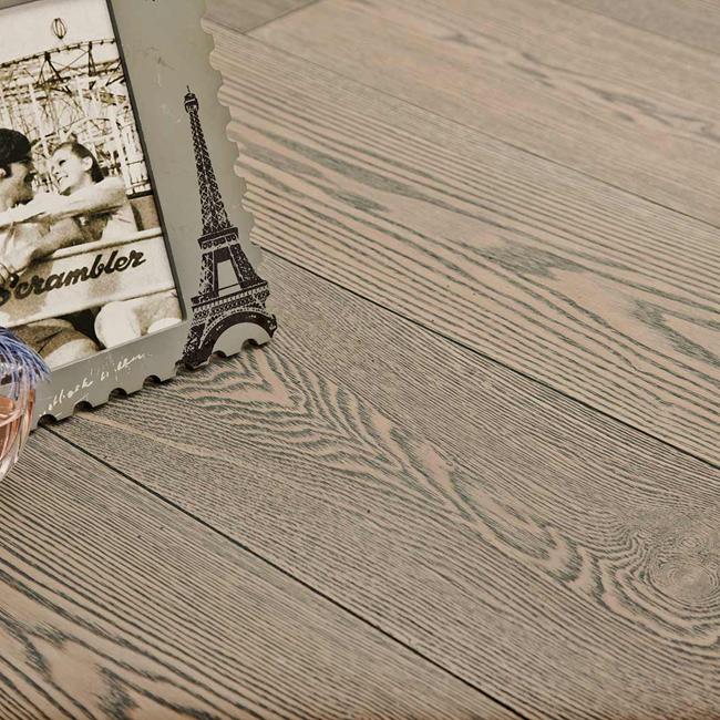 Фото - Паркетная доска Goodwin Классика (лак) Ясень брашированный Грау