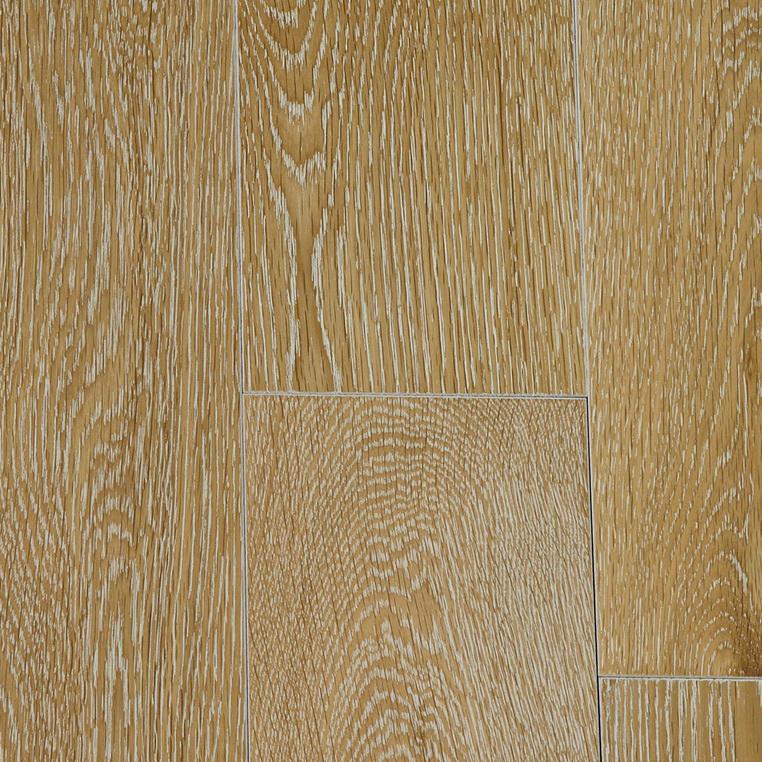 Фото - Массивная доска Magestik Floor Дуб Беленый (браш) (400-1800)х150х18 мм