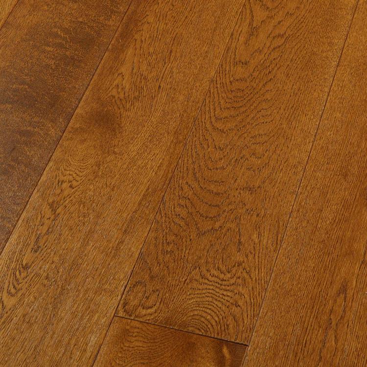 Фото - Массивная доска Magestik Floor Дуб Коньяк (браш) (300-1500)х125х18 мм