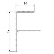 Стартовый F профиль Twinson Terrace 40 х 65 x 6000 мм
