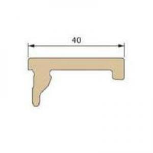 Профиль-накладка (зажим) Twinson 40 х 3000 мм