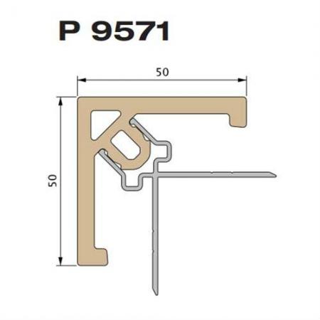 Профиль-клипса облицовочная Twinson 50 х 50 х 3000 мм